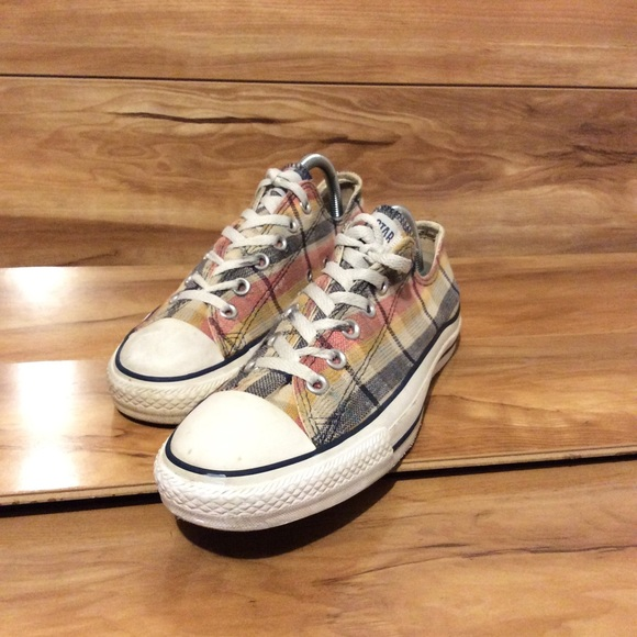 Converse Plaid Multi-Colored Sz M/8-Wo10
